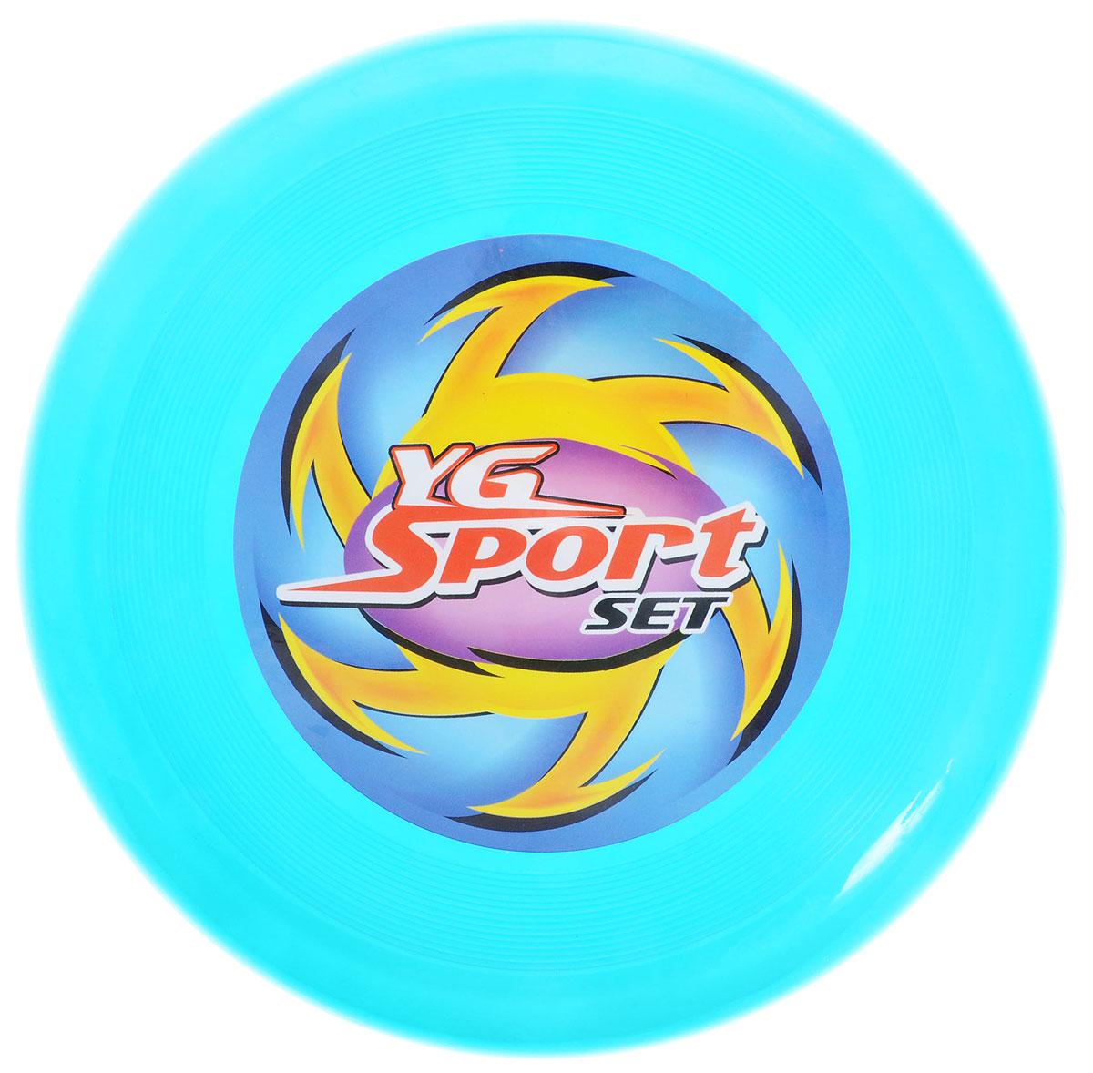 YG Sport Летающий диск цвет голубой yg sport игровой набор лови бросай