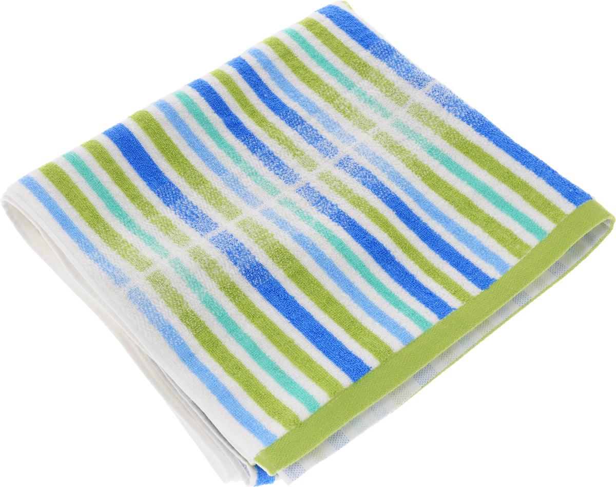 Полотенце Soavita Premium. Lily, цвет: зеленый, белый, синий, 70 х 140 см62928Полотенце Soavita Premium. Lily выполнено из 100% хлопка. Изделие отлично впитывает влагу, быстро сохнет, сохраняет яркость цвета и не теряет форму даже после многократных стирок. Полотенце очень практично и неприхотливо в уходе. Оно создаст прекрасное настроение и украсит интерьер в ванной комнате.