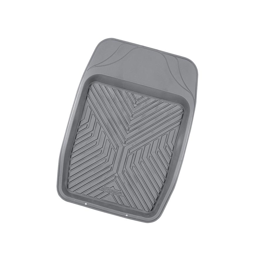 Коврик автомобильный Автопрофи / Autoprofi Groove, универсальный, термопласт, цвет: серый, 69 см х 48 смTER-150f GYКоврик-ванночка для переднего ряда автомобиля Автопрофи / Autoprofi Groove обладает классическим дизайном. В качестве материала изделия используется термопласт-эластомер, который отличается небольшим весом, отсутствием характерного для резины запаха и сохраняет эластичность при температуре до -50 °С. Термопласт-эластомер обладает высокой износостойкостью и устойчив к воздействию агрессивных веществ - масел, топлива, дорожных реагентов и т. д. Высокие фрикционные свойства поверхности коврика не дают ему скользить по салону и под ногами. Благодаря наличию линий разреза можно самостоятельно корректировать размер и форму изделия, подгоняя его под конфигурацию днища автомобиля. Характеристики:Материал: термопласт-эластомер. Размер коврика: 690 мм х 480 мм. Температура использования: от -50 до +50 °С. Артикул: TER-150f GY.