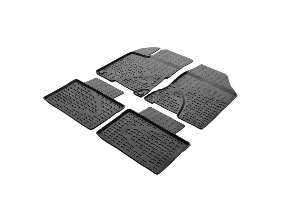 Коврики салона Rival литьевые для Lada Vesta 2015-, c перемычкой, резина66002001Современная версия ковриков Rival для автомобилей, изготовлены из высококачественного и экологичного сырья с использованием технологии высокоточного литься под давлением, полностью повторяют геометрию салона вашего автомобиля.- Усиленная зона подпятника под педалями защищает наиболее подверженную истиранию область.- Надежная система крепления, позволяющая закрепить коврик на штатные элементы фиксации, в результате чего отсутствует эффект скольжения по салону автомобиля.- Высокая стойкость поверхности к стиранию.- Специализированный рисунок и высокий борт, препятствующие распространению грязи и жидкости по поверхности коврика.- Перемычка задних ковриков в комплекте предотвращает загрязнение тоннеля карданного вала.- Произведены из первичных материалов, в результате чего отсутствует неприятный запах в салоне автомобиля.- Высокая эластичность, можно беспрепятственно эксплуатировать при температуре от -45 ?C до +45 ?C.Уважаемые клиенты!Обращаем ваше внимание,что коврики имеет формусоответствующую модели данного автомобиля. Фото служит для визуального восприятия товара.