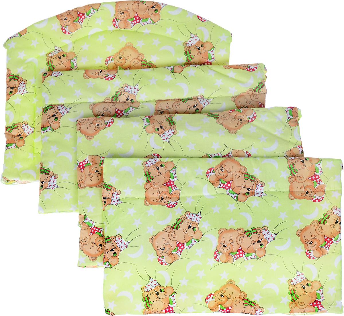 Фея Борт комбинированный Спящие мишки цвет салатовый -  Бортики, бамперы