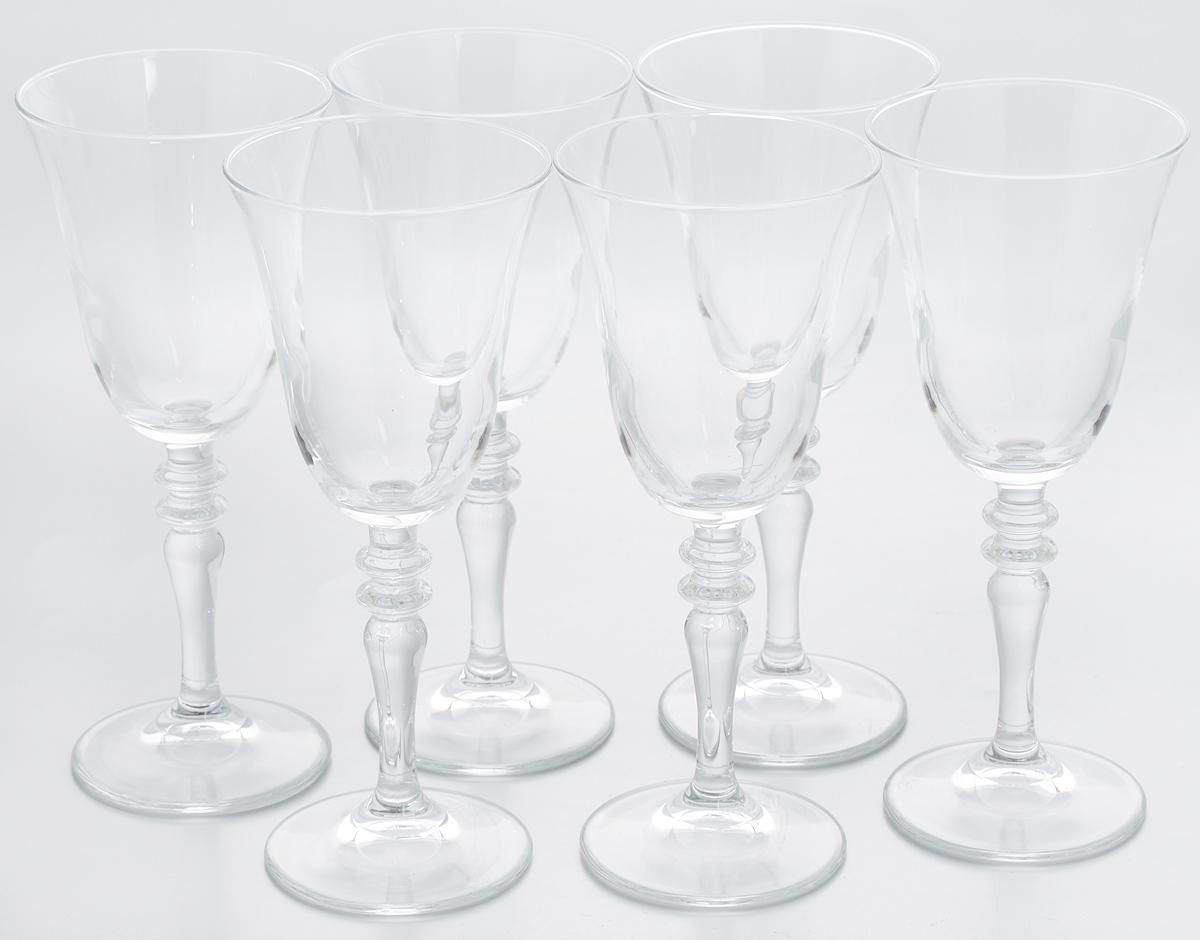 Набор бокалов Pasabahce Vintage, 236 мл, 6 шт440184BНабор Pasabahce Vintage состоит из шести бокалов, выполненных из прочного натрий-кальций-силикатного стекла. Изделия оснащены изящными ножками, отлично подходят для подачи вина и других напитков. Бокалы сочетают в себе элегантный дизайн и функциональность. Набор бокалов Pasabahce Vintage прекрасно оформит праздничный стол и создаст приятную атмосферу за ужином. Такой набор также станет хорошим подарком к любому случаю. Можно мыть в посудомоечной машине.Диаметр бокала по верхнему краю: 8,5 см. Высота бокала: 20 см.