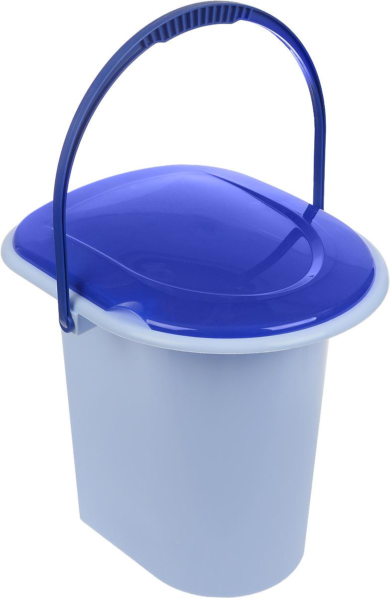 """Ведро-туалет """"Альтернатива"""" выполнено из пластика. Изделие предназначено для использования на даче или загородном доме, где нет центральной канализации. Оно удобное и прочное. Для удобства слива на дне имеется выемка """"под руку"""". Изделие оснащено ручкой для переноски. Размер (по верхнему краю): 38 х 33 см.Высота: 37 см.Объем: 18 л."""