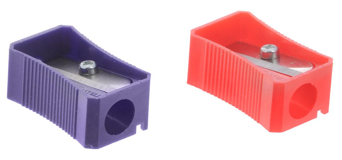 Faber-Castell Точилка цвет красный фиолетовый 2 шт263221_фиолетовый/красныйТочилка Faber-Castell предназначена для затачивания классических простых и цветных карандашей.В наборе две точилки из пластика красного и фиолетового цветов с рифленой областью захвата. Острые лезвия обеспечивают высококачественную и точную заточку деревянных карандашей.