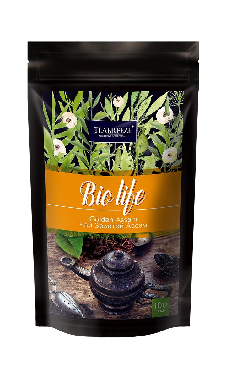 Teabreeze Золотой Ассам черный листовой чай, 100 г 2005 чай ассам хармутти оптом