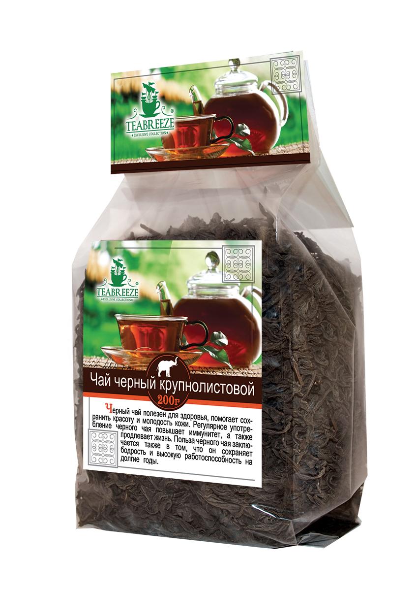 Teabreeze крупнолистовой черный чай, 200 гTB 1603-200Чай Teabreeze из цельных, верхних и наиболее сочных листьев (до 3-4 см длиной). При заваривании получается чайный напиток с оранжевым оттенком, нежным вкусом и ароматом. В данном случае ощущается легкое послевкусие сухофруктов. Немного напоминаем Оолонг.