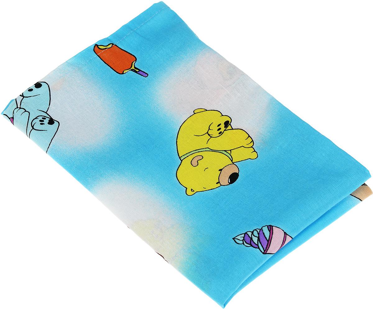 Фея Наволочка детская Мишки и мороженое цвет голубой 40 см х 60 см0001056-1_голубой, разноцветные мишки/мороженоеДетская наволочка Фея Мишки и мороженое идеально подойдет для подушки вашего малыша.Изготовлена из натурального хлопка, она необычайно мягкая и приятная на ощупь. Натуральный материал не раздражает даже самую нежную и чувствительную кожу ребенка, обеспечивая ему наибольший комфорт. Приятный рисунок наволочки, несомненно, понравится малышу и привлечет его внимание. На подушке с такой наволочкой ваша кроха будет спать здоровым и крепким сном.