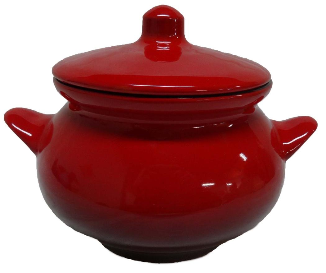 Горшок для жаркого Борисовская керамика Красный, 950 мл
