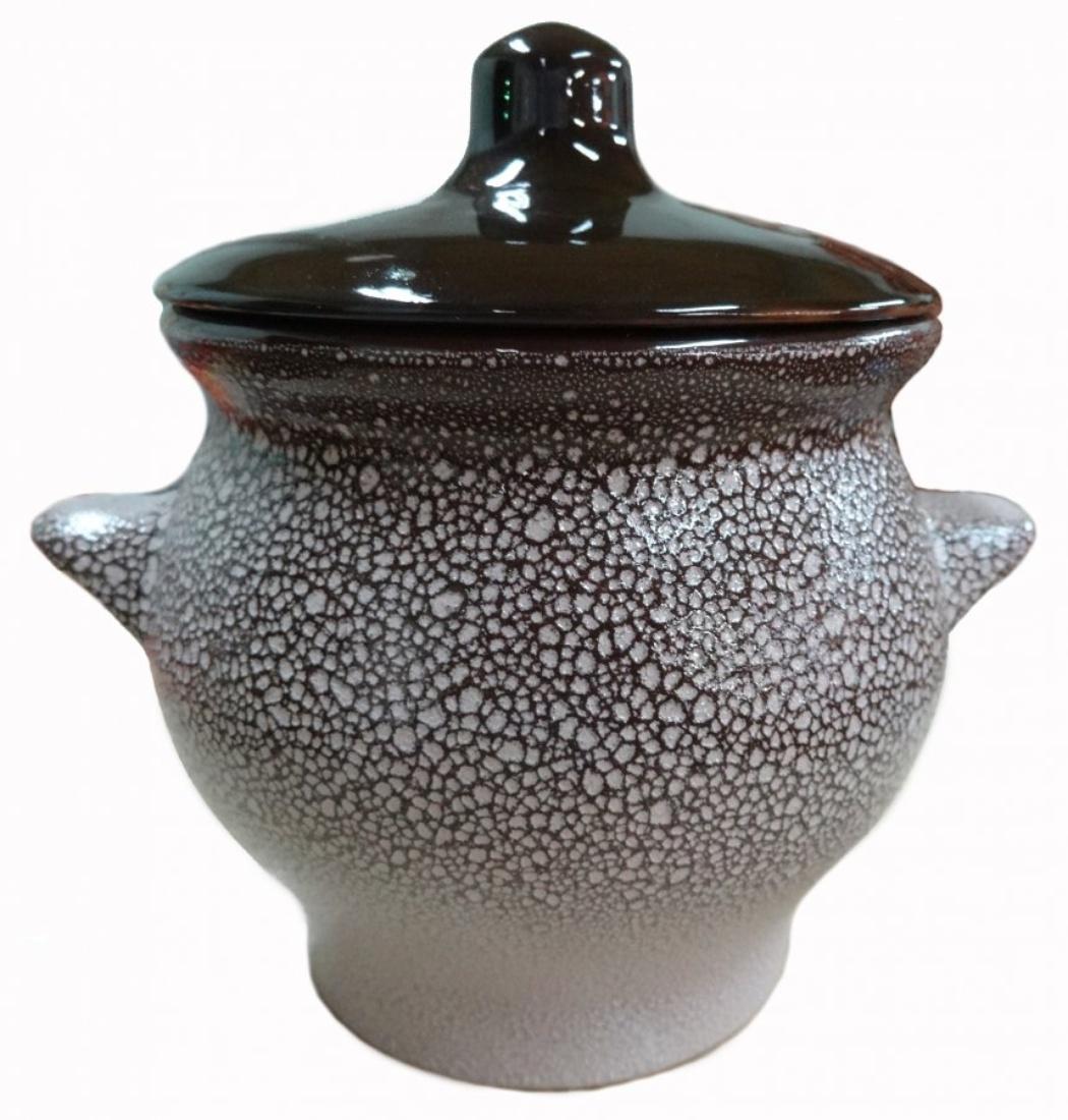 Горшок для жаркого Борисовская керамика Мрамор, 650 мл горшочек для жаркого борисовская керамика русский мрамор