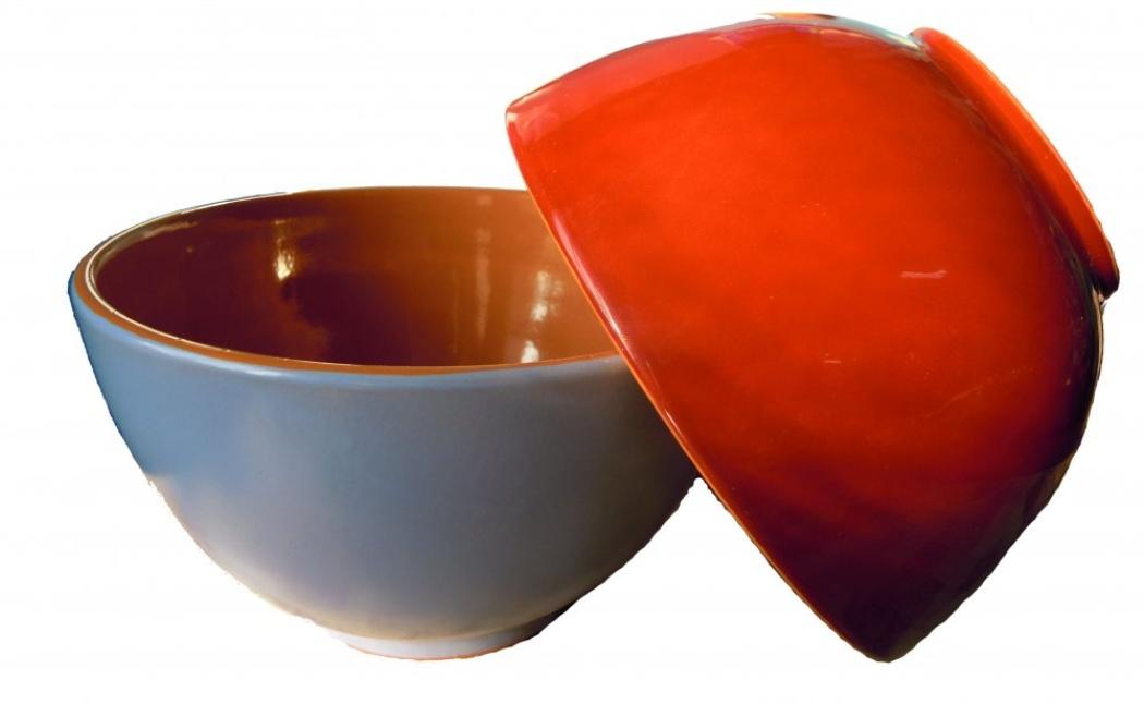 Салатник Борисовская керамика Радуга, цвет: в ассортименте, 1,2 л амвит трейд салатник тосканский петух 13х7 см в ассортименте керамика