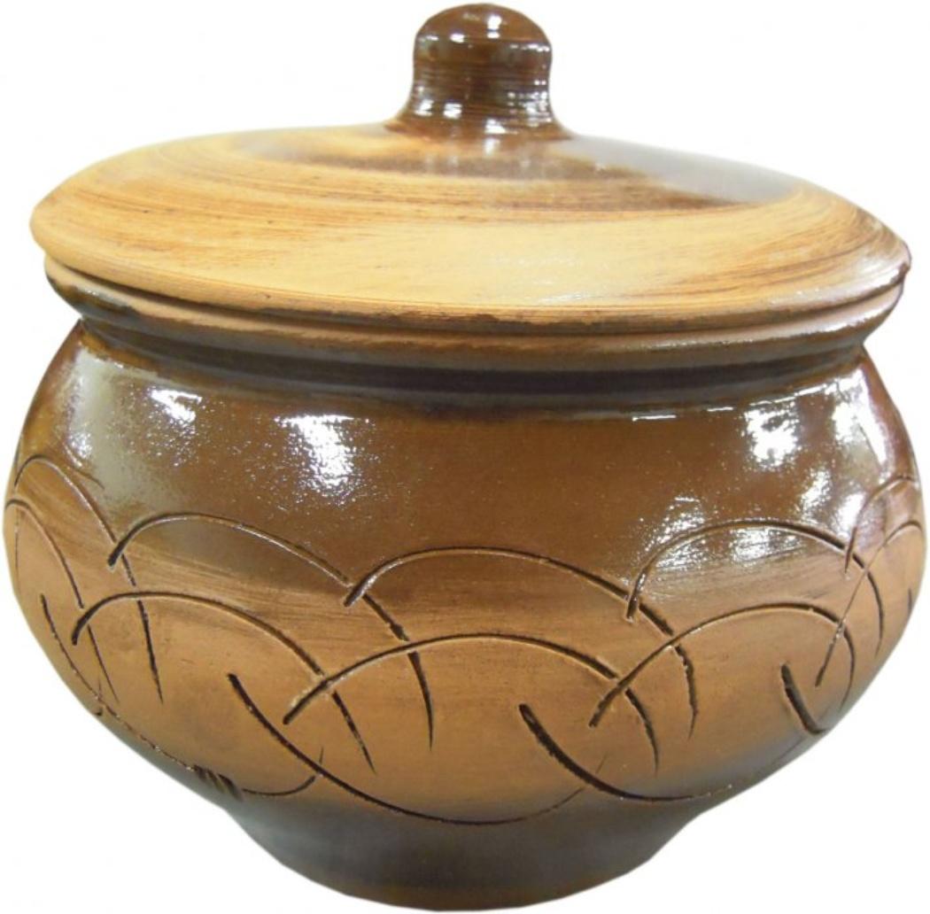 Горшок для жаркого Борисовская керамика Старина, 1,3 л горшок для запекания walmer classic цвет белый диаметр 12 см