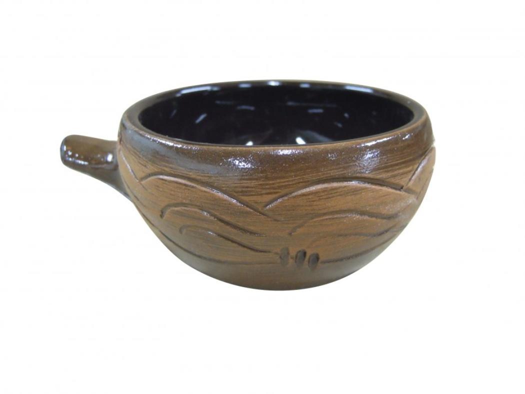 Кокотница Борисовская керамика Старина, 0,18 лСТР00000416Кокотница Борисовская керамика Старина никого не оставляет равнодушным. Она выполнена из высококачественной искусственно состаренной керамики. Внешние стенки оформлены узором. В кокотнице можно удобно запекать кексы, делать жульены. Она отлично подойдет для сервировки стола и подачи блюд. Кокотницу можно использовать как порционно, так и для подачи приправ, острых соусов и другого.Подходит для использования в микроволновой печи и духовке.Высота: 5 см.Диаметр: 9 см.