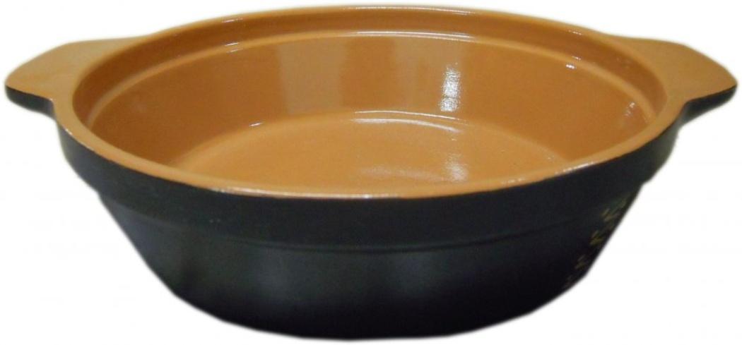 Сковорода Борисовская керамика Чугун, 900 млЧУГ00000563Сковорода Борисовская керамика Чугун предназначена для повседневного использования. Она выполнена из высококачественной керамики. Поверхность сковородки напоминает чугун. Природные свойства этого материала позволяют долго сохранять температуру, даже, если вы пьете что-то холодное. Благодаря рельефному дну температура распределяется равномерно и содержимое сковороды не пригорает. Время приготовления пищи существенно сокращается. Из-за компактной формы экономит место на кухне. Сковороду можно ставить в духовку и микроволновую печь.Высота стенки: 5,5 см.Диаметр сковороды по верхнему краю: 20 см.