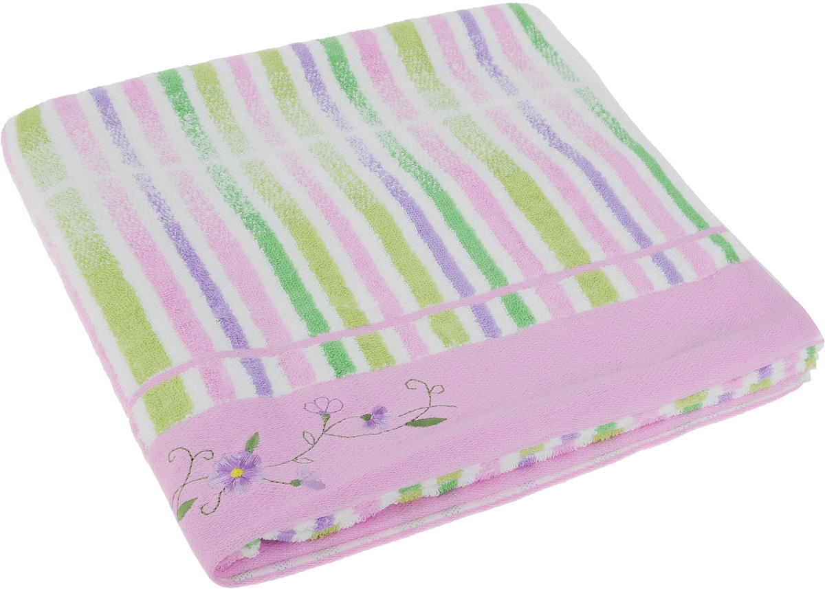 Полотенце Soavita Premium. Lily, цвет: розовый, белый, зеленый, 70 х 140 см levenhuk broadway 325n