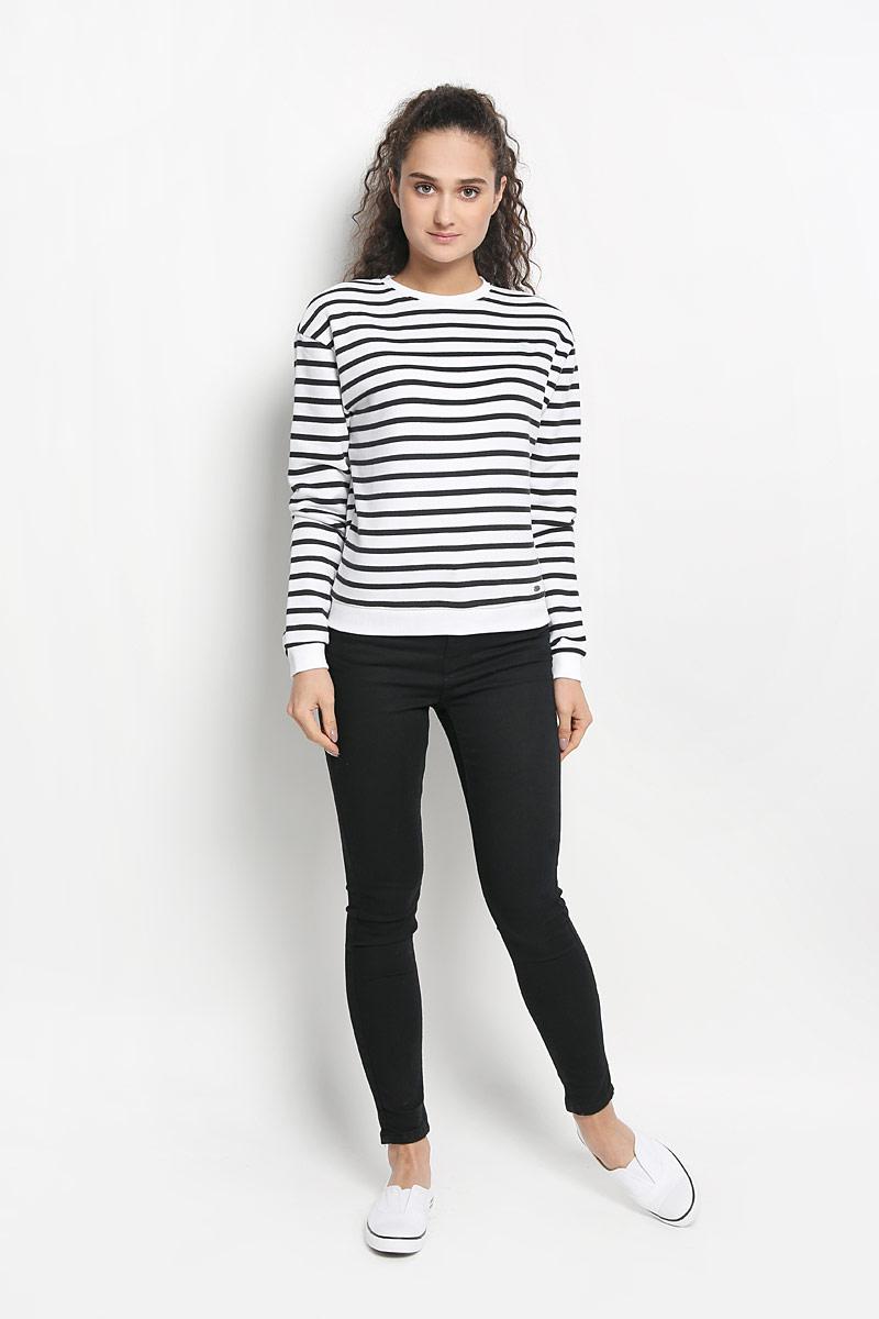 Свитшот женский O'Neill, цвет: белый, черный. 606424-1990. Размер M (46)
