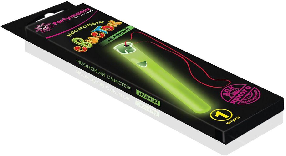 Partymania Неоновый свисток цвет зеленый partymania галстук карнавальный цвет зеленый
