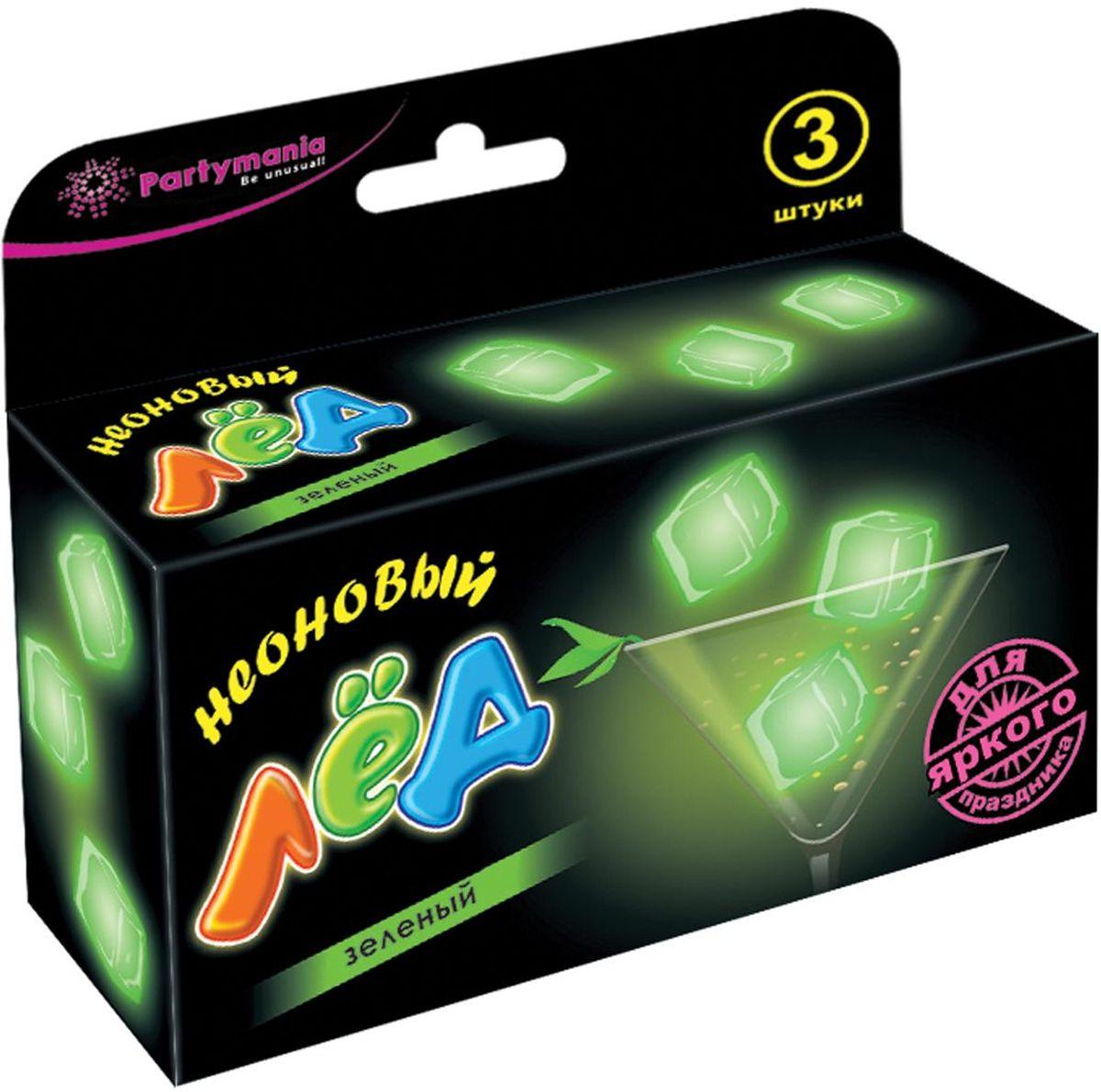 Partymania Неоновый лед цвет зеленый partymania украшения для бокалов 12 шт