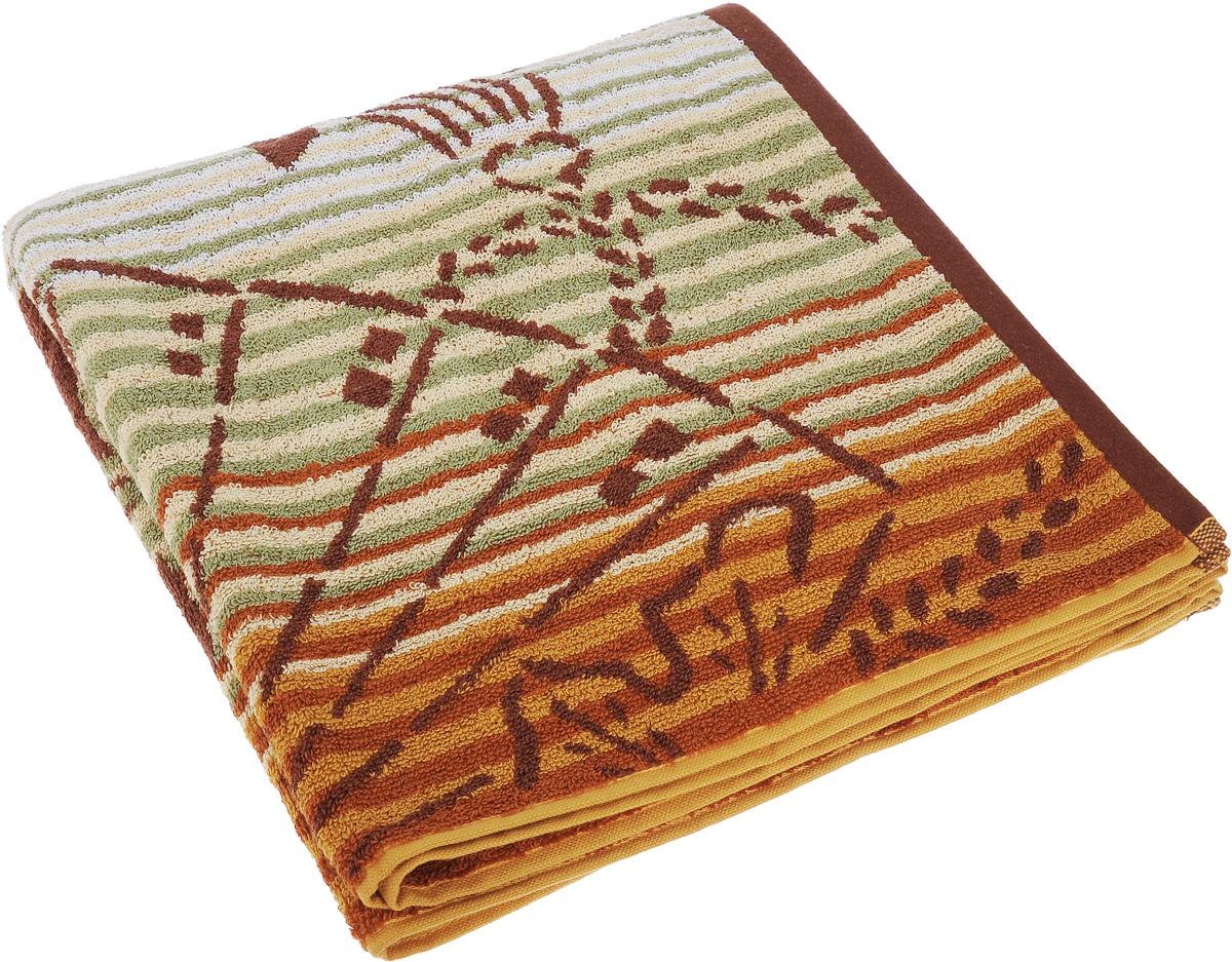 Полотенце Soavita Premium. Веер, цвет: бежевый, коричневый, зеленый, 65 х 130 см74694Полотенце Soavita Premium. Веер выполнено из 100% хлопка. Изделие отлично впитывает влагу, быстро сохнет, сохраняет яркость цвета и не теряет форму даже после многократных стирок. Полотенце очень практично и неприхотливо в уходе. Оно создаст прекрасное настроение и украсит интерьер.