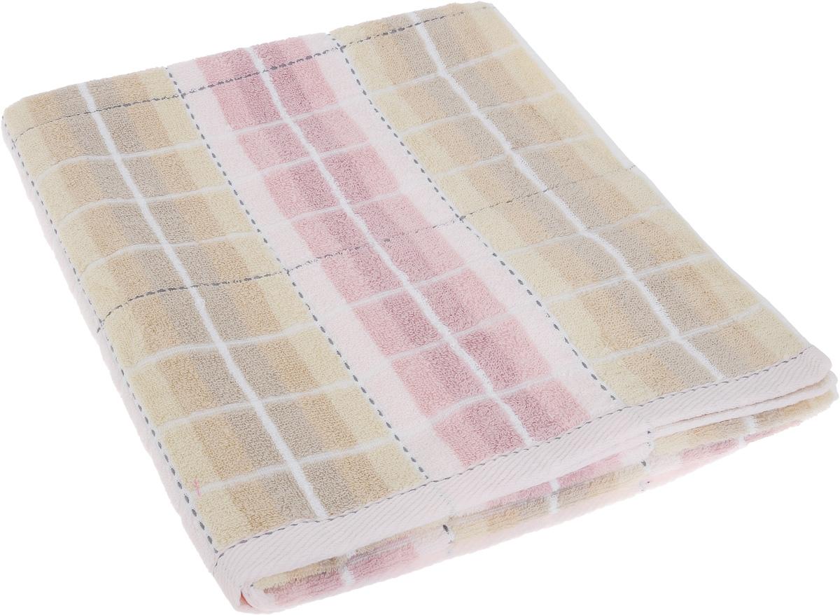 Полотенце Soavita Premium. Aldo, цвет: розовый, бежевый, 70 х 140 см65433Полотенце Soavita Premium. Aldo выполнено из 100% хлопка. Изделие отлично впитывает влагу, быстро сохнет, сохраняет яркость цвета и не теряет форму даже после многократных стирок. Полотенце очень практично и неприхотливо в уходе. Оно создаст прекрасное настроение и украсит интерьер в ванной комнате.