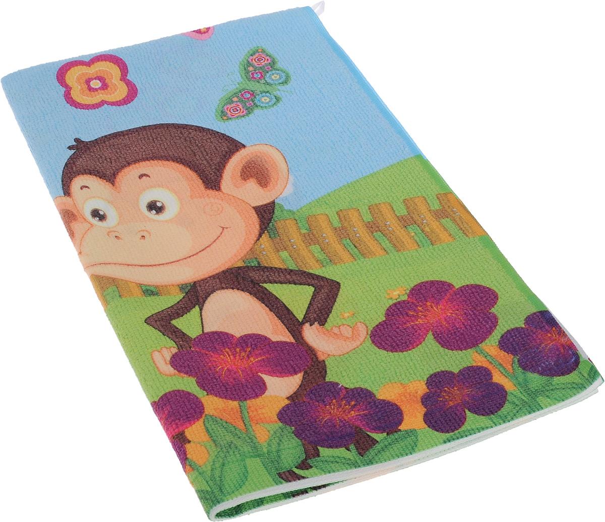 Полотенце кухонное Soavita Monkey, 38 х 64 см80590Кухонное полотенце Soavita Monkey, выполненное извысококачественной микрофибры (80% полиэстер, 20%полиамид), оформлено изображением забавных обезьянок.Имеется петелька для подвешивания. Изделие предназначенодля использования на кухне и в столовой. Такое полотенце станет отличным вариантом для практичнойи современной хозяйки.