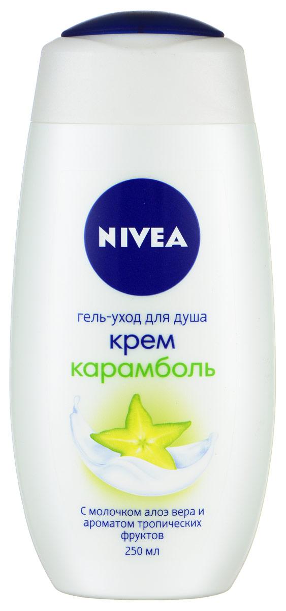 NIVEA Гель-уход для душа Крем Карамболь 250 мл nivea крем гель для душа моменты наслаждения карамболь 250 мл