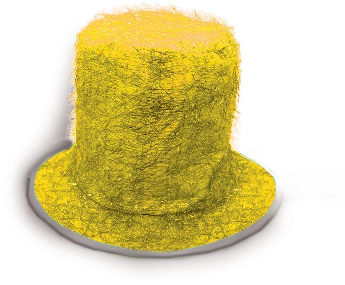 Partymania Шляпа карнавальная Цилиндр клоуна цвет желтый