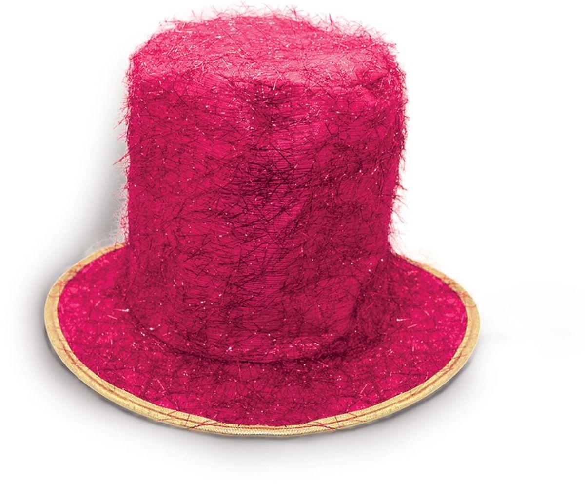 Partymania Шляпа карнавальная Цилиндр клоуна цвет розовый