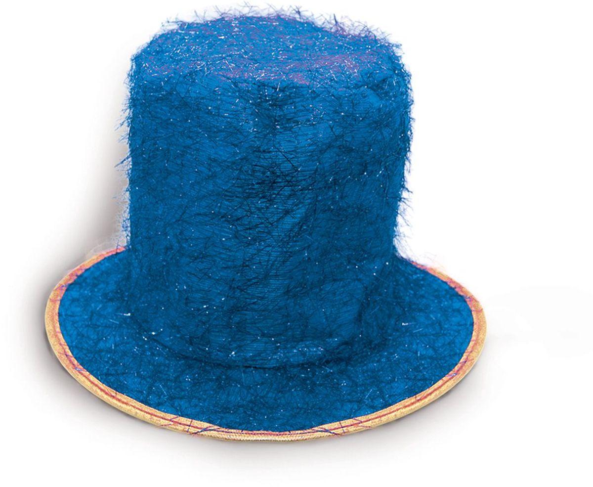 Partymania Шляпа карнавальная Цилиндр клоуна цвет синий