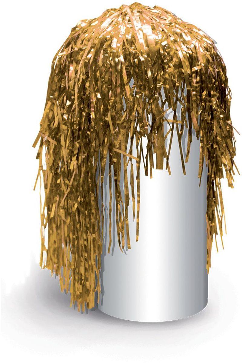 Partymania Маскарадный парик из дождика Веселый праздник цвет золотистый