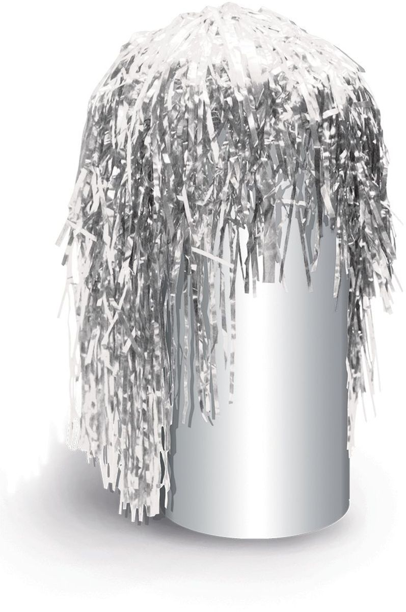 Partymania Маскарадный парик из дождика Веселый праздник цвет серебристый