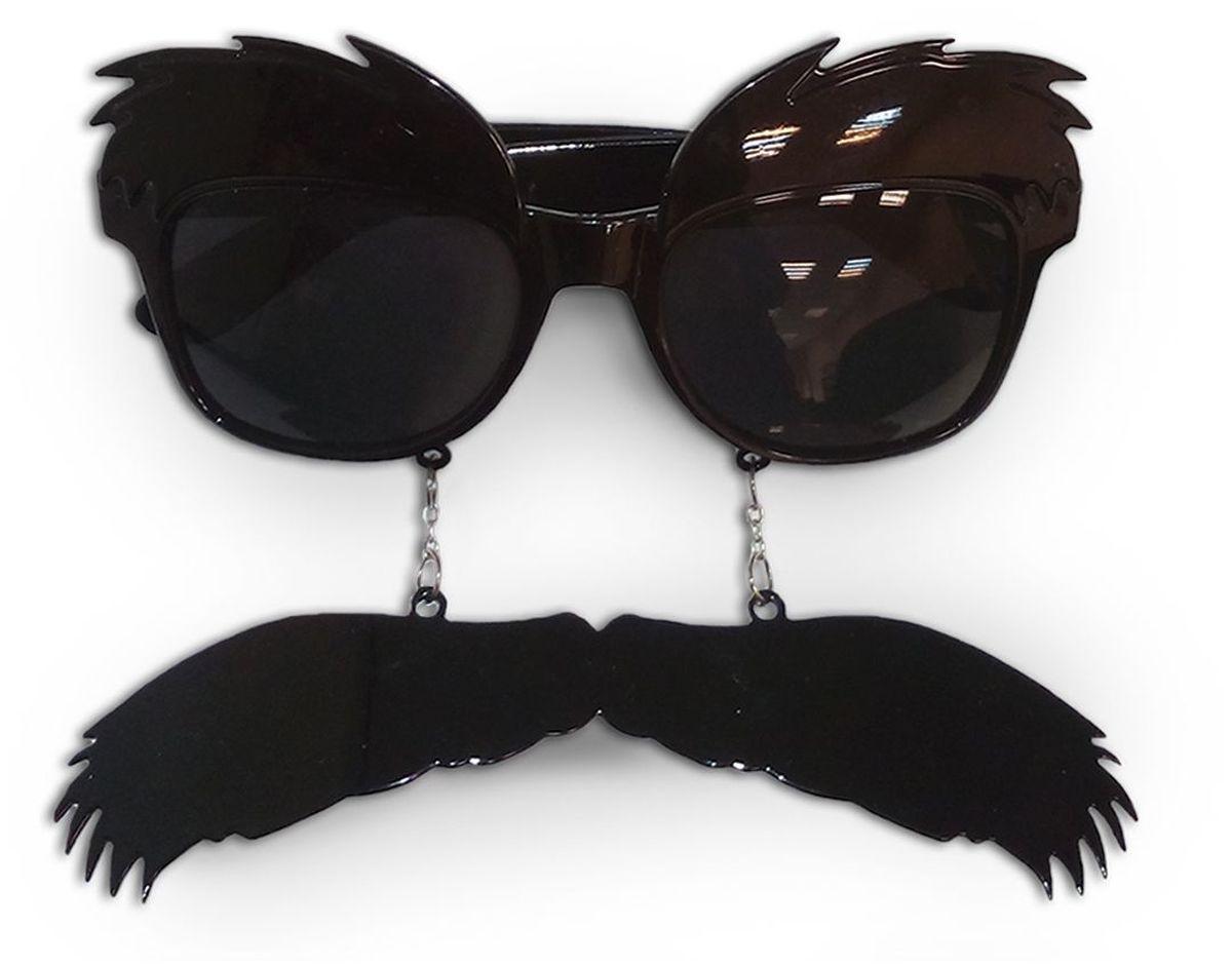 Partymania Очки для вечеринок Усы и брови -  Очки карнавальные