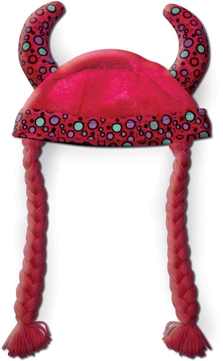 Partymania Шляпа карнавальная Викинг цвет красный partymania ободок рожки чертика с трезубцем и бабочкой цвет черный