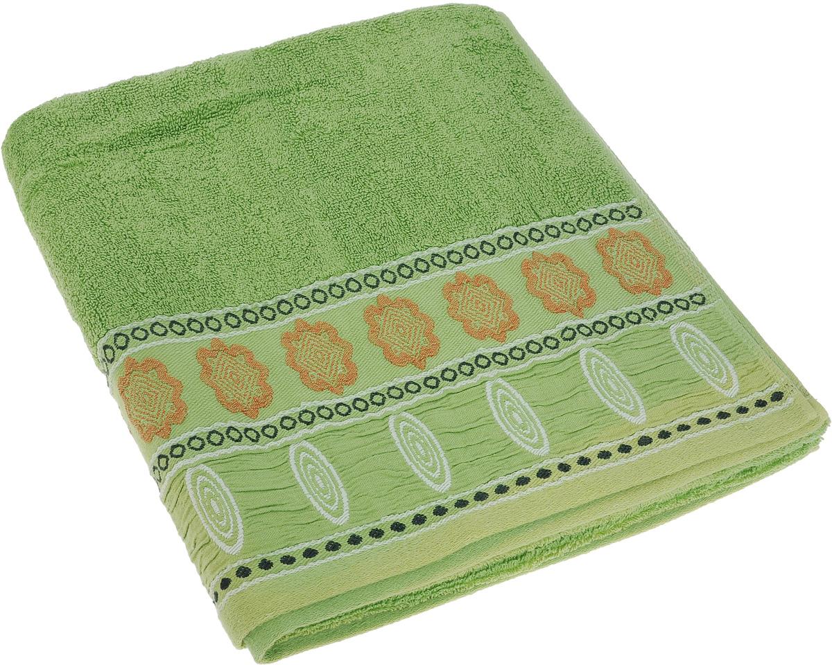 Полотенце Soavita Bruno, цвет: зеленый, 70 х 140 см64046Полотенце Soavita Bruno выполнено из 100% хлопка. Изделие отлично впитывает влагу, быстро сохнет, сохраняет яркость цвета и не теряет форму даже после многократных стирок. Полотенце очень практично и неприхотливо в уходе. Оно создаст прекрасное настроение и украсит интерьер в ванной комнате.