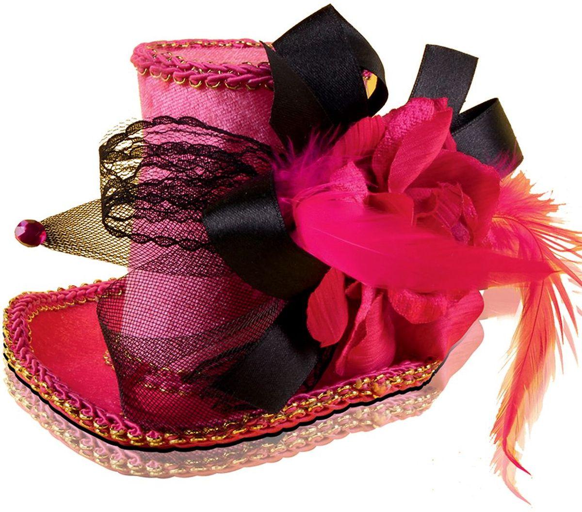 Partymania Шляпка-таблетка карнавальная Винтаж цвет красный partymania ободок рожки чертика с трезубцем и бабочкой цвет черный