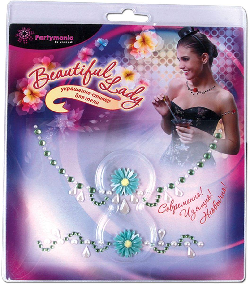 Фото - Partymania Украшение-стикер для тела 2 шт Beautiful Lady Ромашка стикеры для стен zooyoo1208 zypa 1208 nn