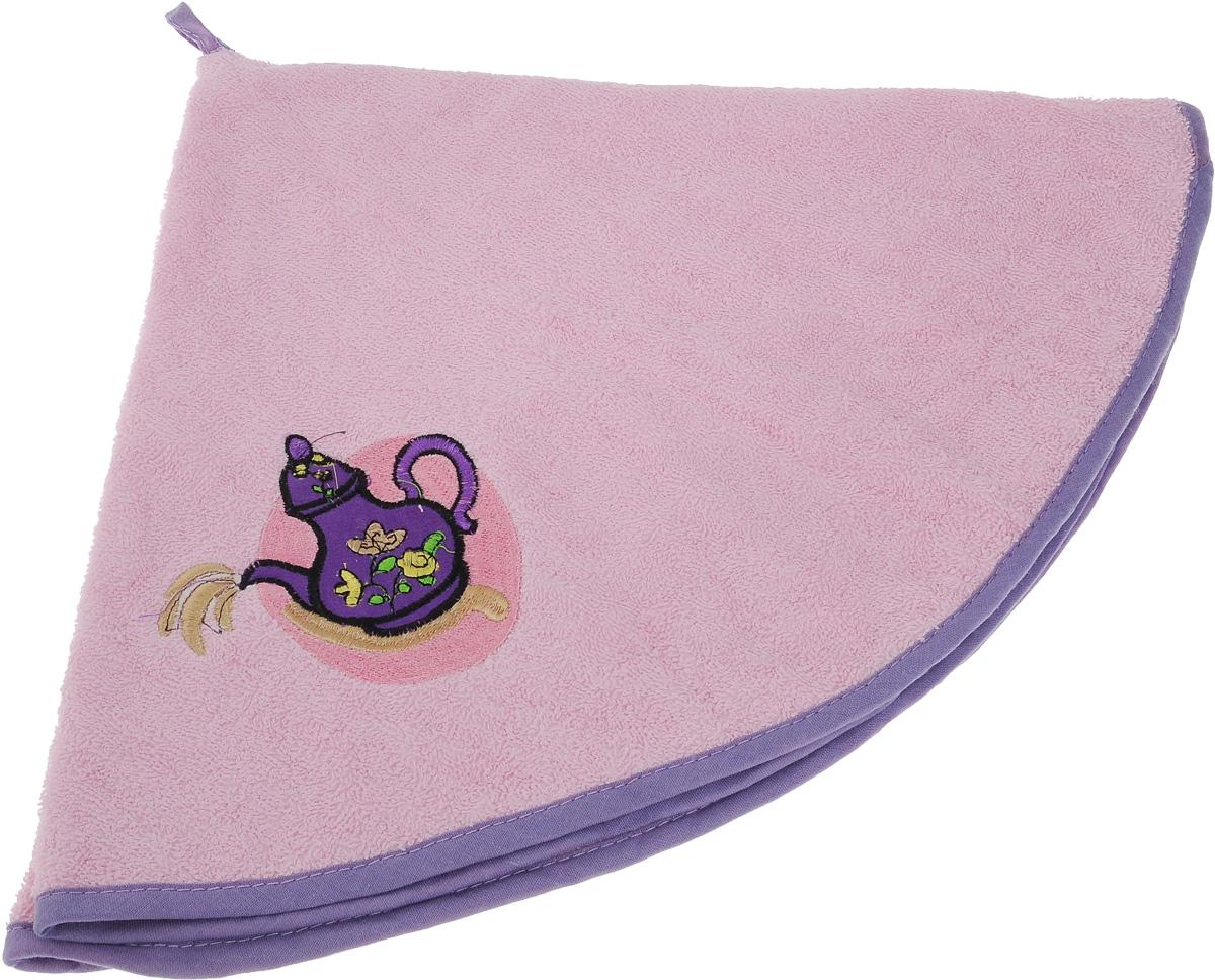 Полотенце Soavita, цвет: розовый, диаметр 70 см48813Круглое полотенце Soavita выполнено из 100% хлопка. Изделие отлично впитывает влагу, быстро сохнет, сохраняет яркость цвета и не теряет форму даже после многократных стирок. Полотенце очень практично и неприхотливо в уходе. Оно создаст прекрасное настроение и украсит интерьер в ванной комнате.