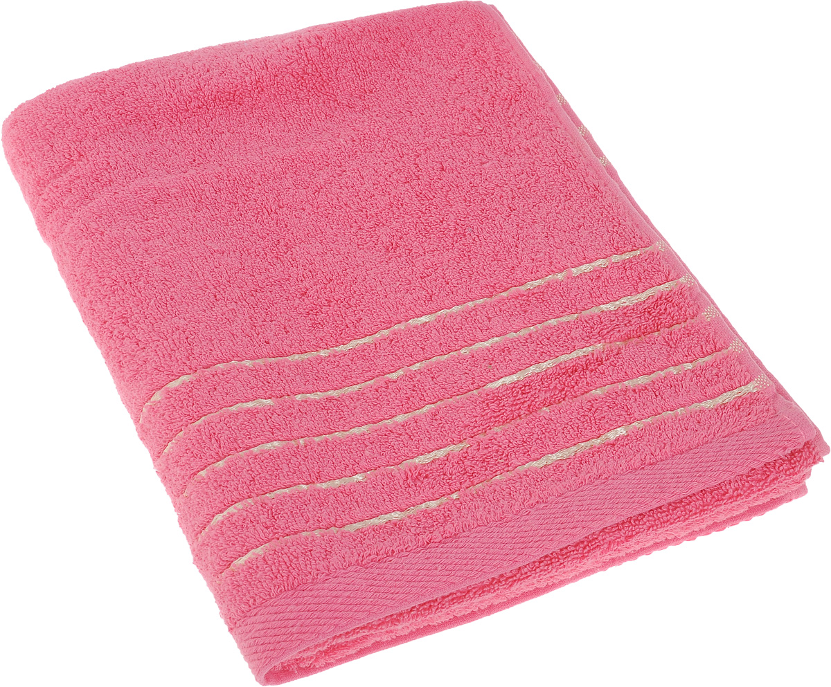 Полотенце Soavita Olivia, цвет: розовый, 50 х 90 см64008Полотенце Soavita Olivia выполнено из 100% хлопка. Изделие отлично впитывает влагу, быстро сохнет, сохраняет яркость цвета и не теряет форму даже после многократных стирок. Полотенце очень практично и неприхотливо в уходе. Оно создаст прекрасное настроение и украсит интерьер в ванной комнате.
