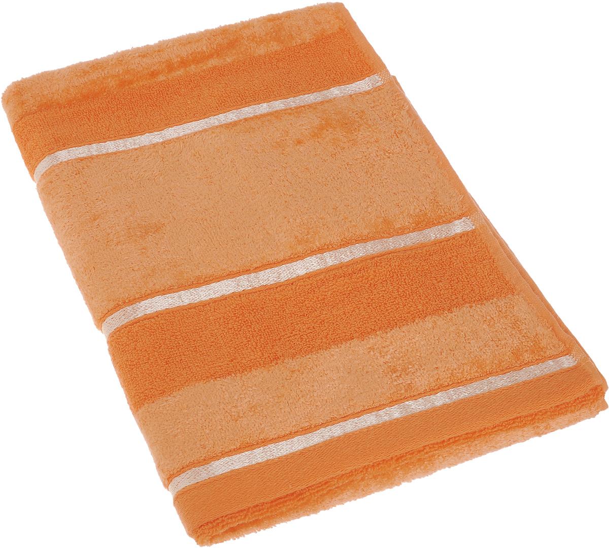 Полотенце Soavita Louise, цвет: оранжевый, 50 х 90 см64033Полотенце Soavita Louise выполнено из 100% хлопка. Вседетали качественно прошиты, ткань очень плотная, не линяет идержится много лет. Изделие отлично впитывает влагу, быстросохнет, сохраняет яркость цвета и не теряет форму даже послемногократных стирок.Полотенце очень практично и неприхотливо в уходе. Оносоздаст прекрасное настроение и украсит интерьер в ваннойкомнате.