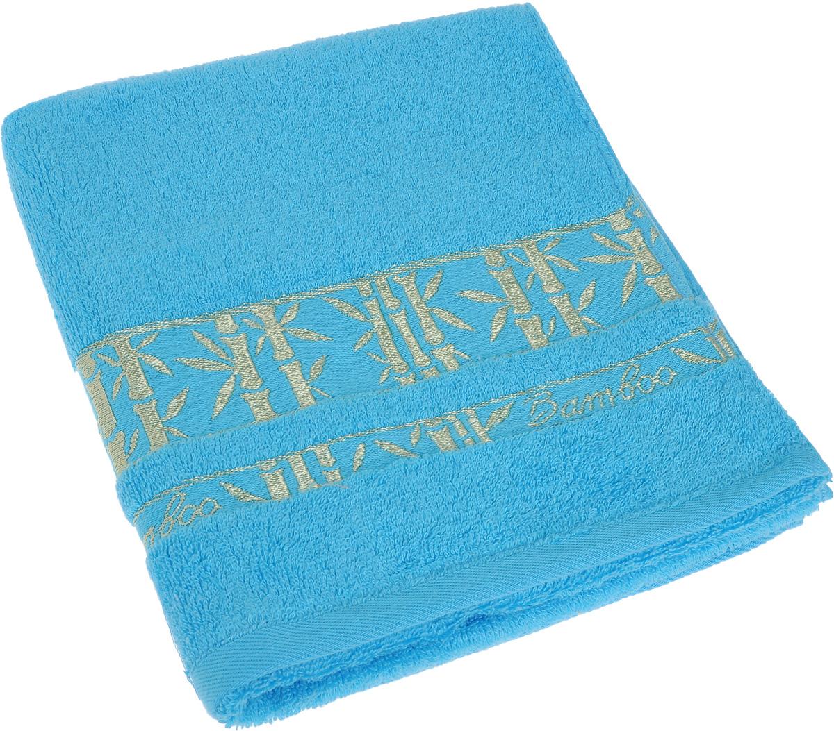 Полотенце Soavita Andrea, цвет: бирюзовый, золотистый, 50 х 80 см64089Полотенце Soavita Andrea выполнено из 100% бамбукового волокна. Изделие отлично впитывает влагу, быстро сохнет, сохраняет яркость цвета и не теряет форму даже после многократных стирок. Полотенце очень практично и неприхотливо в уходе. Оно создаст прекрасное настроение и украсит интерьер в ванной комнате.