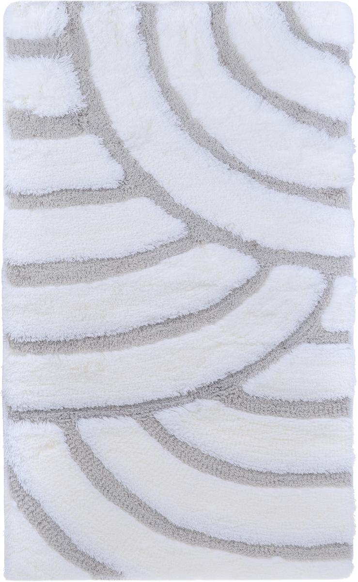 Коврик для ванной комнаты Banyolin Ракушка, цвет: бело-серый, 60 х 100 смPH3299Коврик для ванной Banyolin Ракушка изготовлен из 100% акрила с противоскользящей основой. Волокно превосходно впитывает влагу и создает комфортное, мягкое покрытие. Коврик, выполненный в однотонном цвете, создаст уют и комфорт в ванной комнате. Ворс мягко соприкасается с кожей стоп, вызывая только приятные ощущения. Рекомендации по уходу: - стирать в ручном режиме при температуре 30°С, - не использовать отбеливатели, - не гладить, - не подходит для сухой чистки (химчистки),- сушить можно в вертикальном и горизонтальном положении.