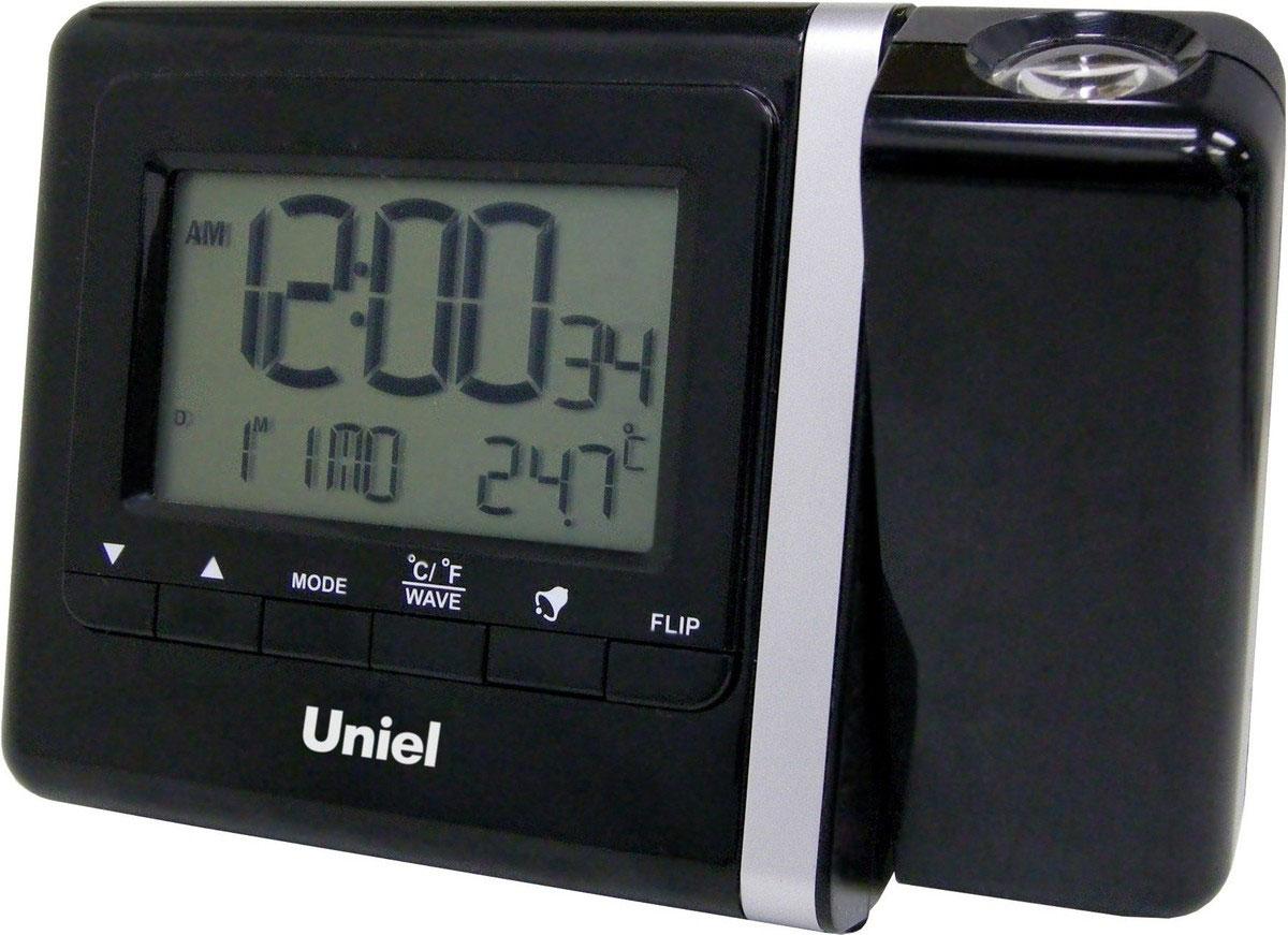 Uniel UTP-80 проекционные часыUTP-80Уникальные многофункциональные часы Uniel UTP-80 оснащены режимом путешествие, что позволяет настраивать время других часовых поясов. Кроме этого, они имеют функцию проецирования времени. Вы можете установить направление проекции в пределах 180°. А еще часы имеют 2 будильника с повторяющимся сигналом и показывают температуру в помещении, а дисплей оборудован яркой подсветкой. Столько функций в миниатюрном корпусе!Стильный эргономичный дизайнКомпактные размеры конструкцииЧасы с прожекторомПрожектор красного цвета с подстройкой фокуса и вращением на 180°Календарь12/24 формат времени5 языков для дней неделиВысокое качество и комфорт в управлении