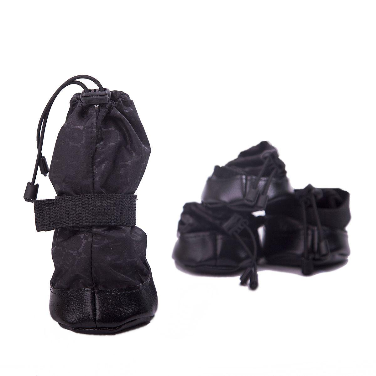 Ботинки для собак OSSO Fashion, короткие, унисекс, цвет: черный. Размер 3 цена