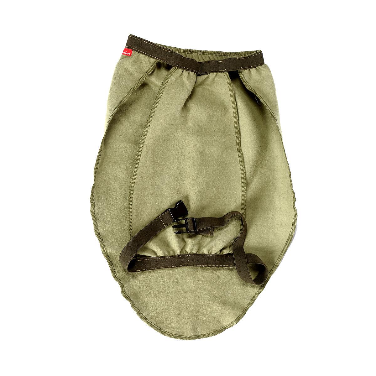 Попона для собак OSSO Fashion, охлаждающая, унисекс, цвет: оливковый. Размер 80