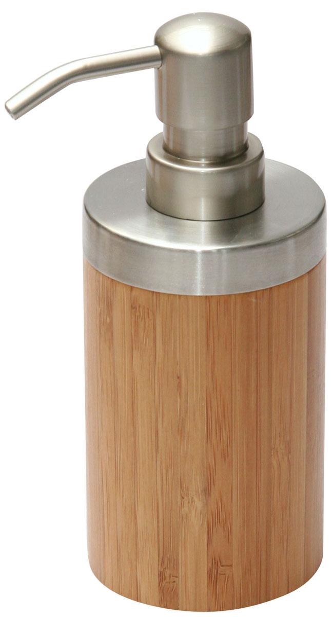 Дозатор для жидкого мыла Axentia Bonja282333Дозатор для жидкого мыла Axentia Bonja изготовлен из натурального экологически чистого бамбука, устойчивого к повышенной влажности, с элементами нержавеющей стали. Изделие превосходно дополнит интерьер вашей ванной комнаты или кухни, отлично сочетается с другими аксессуарами из коллекции Bonja.Высота дозатора: 16,5 см.