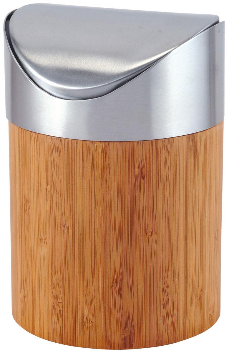 Ведро для мусора Axentia Bonja, с крышкой, 800 мл116809Ведро для мусора Axentia Bonja изготовлено из натурального экологически чистого бамбука, устойчивого к повышенной влажности, и элементов из высококачественной нержавеющей стали. Ведро для мусора Axentia Bonja дополнит ваш интерьер и украсит кухню или ванную комнату, а качественные материалы позволят наслаждаться покупкой долгие годы. Размер ведра: 12 х 12 х 16,5 см.Объем ведра: 800 мл.