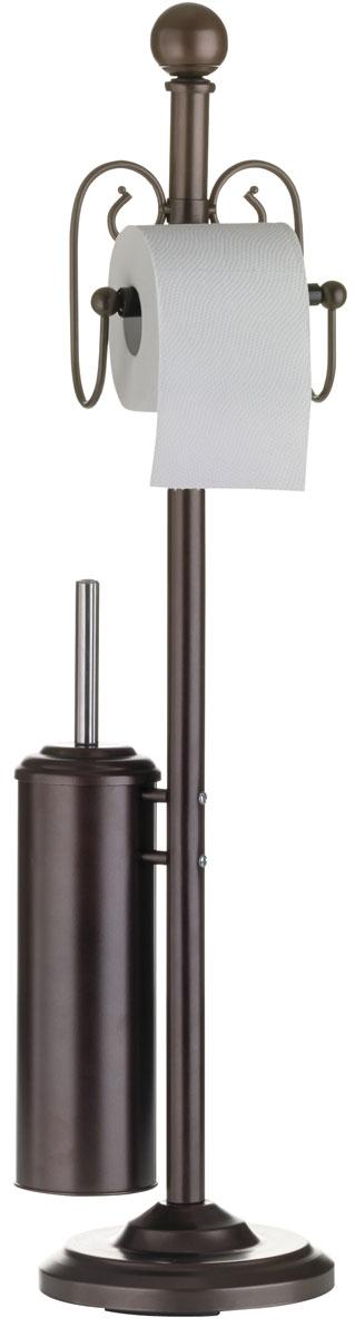 Гарнитур для туалета Axentia Nostalgie, с держателем для туалетной бумаги, 19 х 19 х 82 см282081Туалетный гарнитур с держателем для бумаги Axentia Nostalgie выполнен из высококачественной стали, обработанной безопасной и полимерной порошковой краской. Состоит из держателя туалетной бумаги, ершика со стальной ручкой, белой щеткой с жестким густым ворсом и подставки. Для высокой устойчивости у гарнитура имеется утяжеленное круглое основание. Высококачественные материалы, а так же прочные крепления позволят наслаждаться покупкой долгие годы. Приятно дополнит интерьер вашей туалетной комнаты. Высота гарнитура: 82 см.