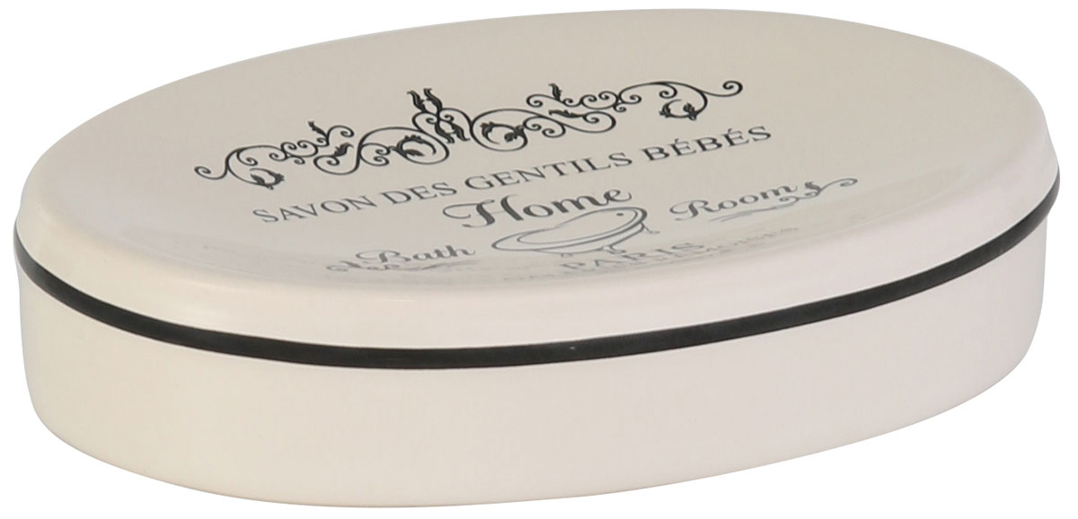 """Мыльница Axentia """"Lissabon"""" изготовлена из натуральной и элегантной керамики белого цвета,  удобной овальной формы, с оригинальным декором """"Лиссабон"""".  Мыльница Axentia """"Lissabon"""" прекрасно дополнит интерьер вашей ванной комнаты или кухни.  Изделие отлично сочетается с другими аксессуарами из коллекции """"Lissabon"""". Размер мыльницы: 13,2 х 9,5 х 2,5 см."""
