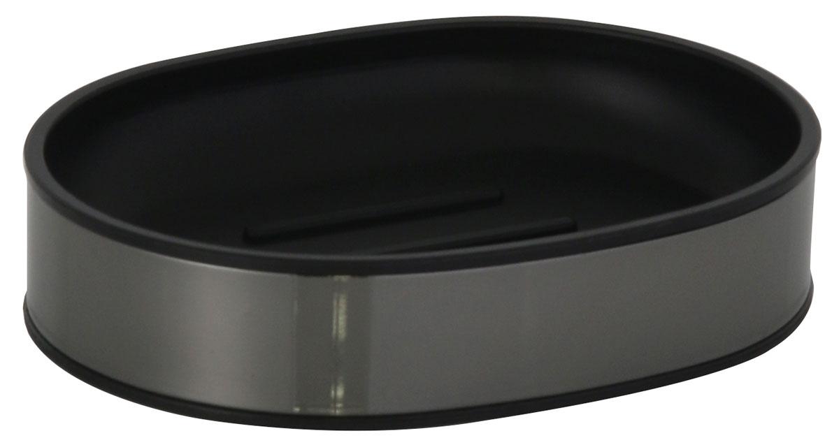 Мыльница Axentia Bologna, 11,2 х 8,5 х 2,5 см122390Мыльница Axentia Bologna изготовлена из сатинированной нержавеющей стали черного цвета снаружи и черного полипропилена внутри. Изделие удобно в использовании. Мыло не тает и не засыхает, его остатки легко смываются водой. Такая мыльница прекрасно подойдет для ванной комнаты или кухни.Мыльница Axentia Bologna создаст особую атмосферу уюта и максимального комфорта в ванной. Отлично сочетается с другими аксессуарами из коллекции Bologna.Размер мыльница: 11,2 х 8,5 х 2,5 см.