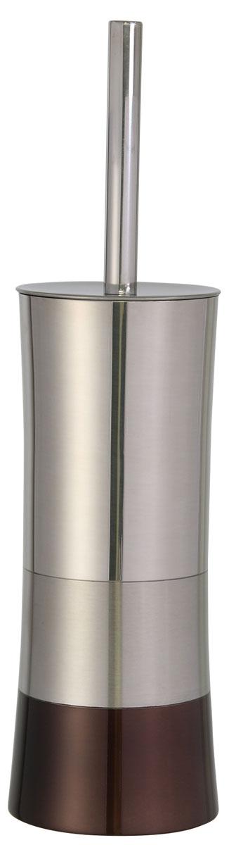 Ершик для унитаза Axentia Lucca, с подставкой, высота 37,5 см122366Ершик для унитаза Axentia Lucca имеет ручку из высококачественной нержавеющей стали и белую щетку, с жестким густым ворсом. Подставка изготовлена из высококачественной нержавеющей стали, такой материал не боится влажности и механического воздействия. Обработан тремя способами: глянцевая и матовая полировка и бронзовое покрытие.Высококачественные материалы позволят наслаждаться покупкой долгие годы. Изделие приятно дополнит интерьер вашей туалетной комнаты.