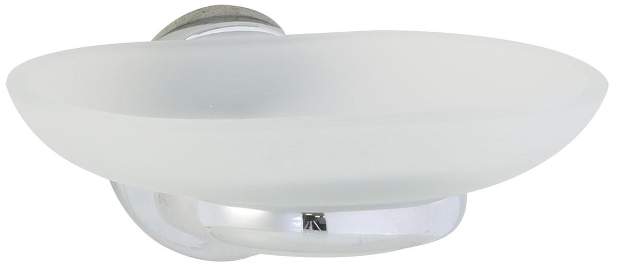 Мыльница Axentia Capri, настенная, на шурупах, 12,5 х 11 х 6,5 см122439Настенная мыльница Axentia Capri изготовлена из матового стекла и стали с качественным хромированным покрытием, которое на долго защитит изделие от ржавчины в условиях высокой влажности в ванной комнате. Мыльница имеет скрытое крепление на шурупах (в комплекте).Отлично сочетается с другими аксессуарами из коллекции Capri.Размеры: 12,5 х 11 х 6,5 см.